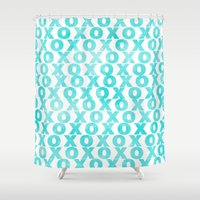 xoxo Shower Curtains featuring xoxo by Sandra Arduini