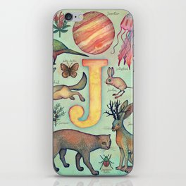 'J' collection iPhone Skin