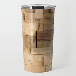 Wood bas-relief Travel Mug