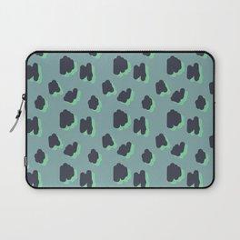 Green Smudge Spot Pattern Laptop Sleeve