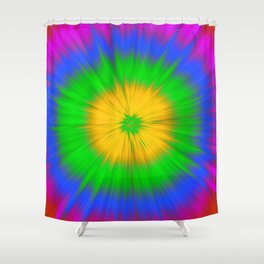 Colorful explosion Shower Curtain