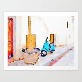 Scooter in Tortora Art Print