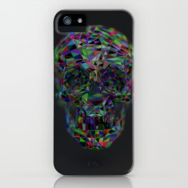 Skull Low-Poly Color iPhone Case