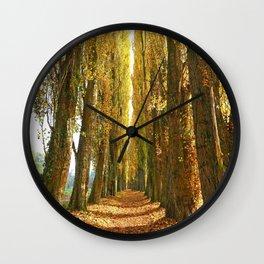 Poplar Avenue Wall Clock