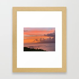 Hawai'ian Sunset No.3 Framed Art Print