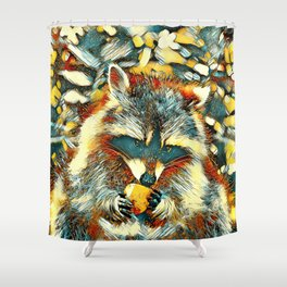 AnimalArt_Raccoon_20170901_by_JAMColorsSpecial Shower Curtain