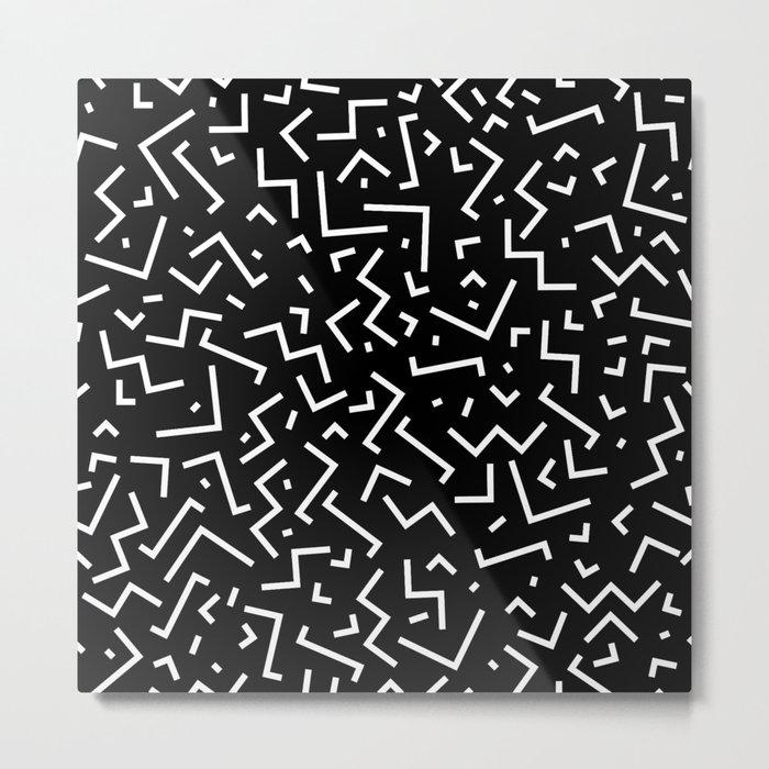 Memphis pattern 31 Metal Print