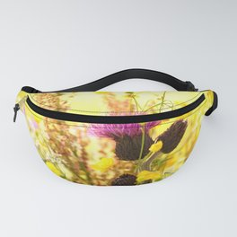 Colorful Wildflowers On A Yellow Background #decor #society6 Fanny Pack
