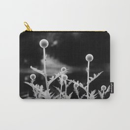 Globe thistle in black and white Carry-All Pouch