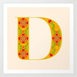D - Amarilis Art Print