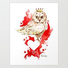 Coquette - queen of hearts Art Print