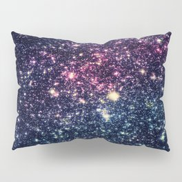 Galaxy Stars : Subtle Purple Mauve Pink Teal Pillow Sham