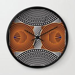 Modern Aboriginal Wall Clock