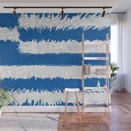 Extruded flag of Greece Wall Mural