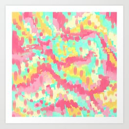 Abstract Candy Land Art Print
