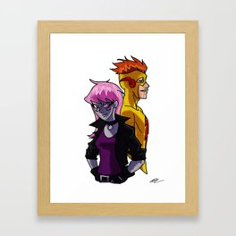 Jinx & Kid Flash Framed Art Print
