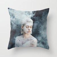 illusion Throw Pillows featuring Illusion by Jovana Rikalo
