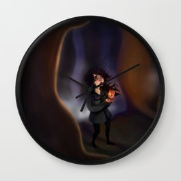A Contained Flame Wall Clock
