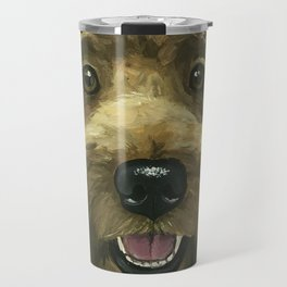 Golden-Doodle Art, Dog Art, Cute Animal Art Travel Mug