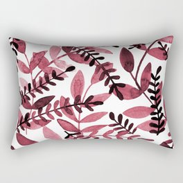 Watercolor branches - red Rectangular Pillow