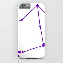 Libra (Purple & White) iPhone Case