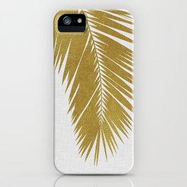 Palm Leaf Gold I iPhone Case