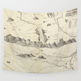 Vintage Map of The White Mountains (1852) Wall Tapestry