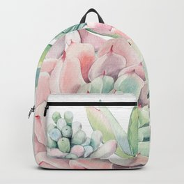Pink Succulent by Nature Magick Backpack