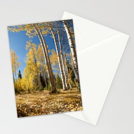 Crested Butte Colorado Fall Colors Panorama - 3 by OLena Art Stationery Cards