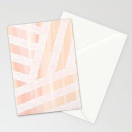 Peach linens Stationery Cards