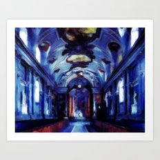 Church of Royal Palace in Stockholm - Oil Painting Style Art Print