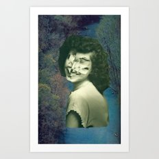 Jumble Lady Art Print