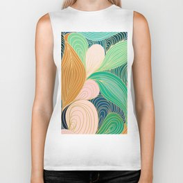 Swirly Interest Biker Tank