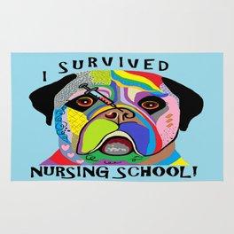 I Survived Nursing School Rug