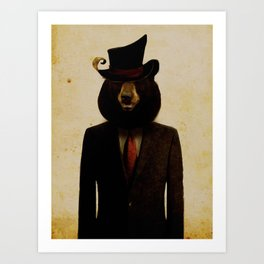 Uncle Bear Art Print