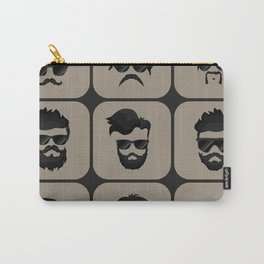 mustache, beard and hairstyle hipster Carry-All Pouch