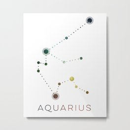 AQUARIUS STAR CONSTELLATION ZODIAC SIGN Metal Print