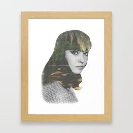 Anna Karina Nature Portrait Framed Art Print