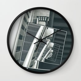 Spinning Carpeted Stairwell Wall Clock