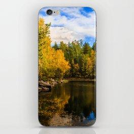 Autumn, Hidden Lake iPhone Skin