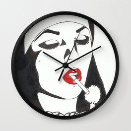 Nun with candle Wall Clock