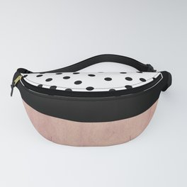 Pink marble and dots Fanny Pack