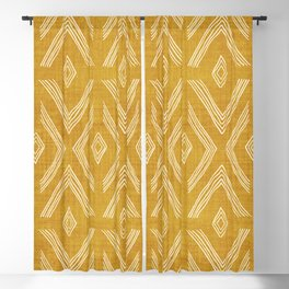 Birch in Gold Blackout Curtain