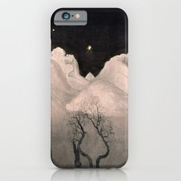 Stars and Heavens in the Heights of the Snow-capped Alpine Mountains by Harald Sohlberg iPhone Case