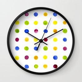 Candied Polka Dots Wall Clock