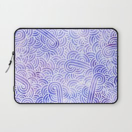Lavender and white swirls doodles Laptop Sleeve