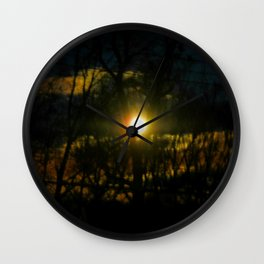 Electric Moonlight Wall Clock
