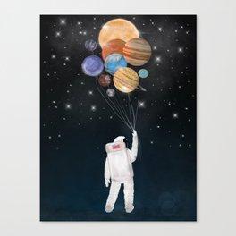 balloon universe Canvas Print