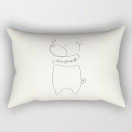 Love Yourself Pug Rectangular Pillow
