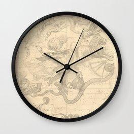 Burritt's Constellations (April, May, June) (1856) Wall Clock